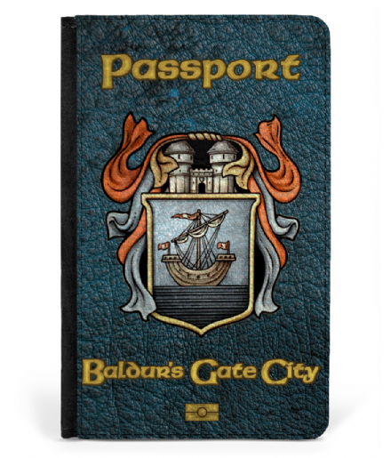Baldurs Gate City Faux Leather Passport Cover